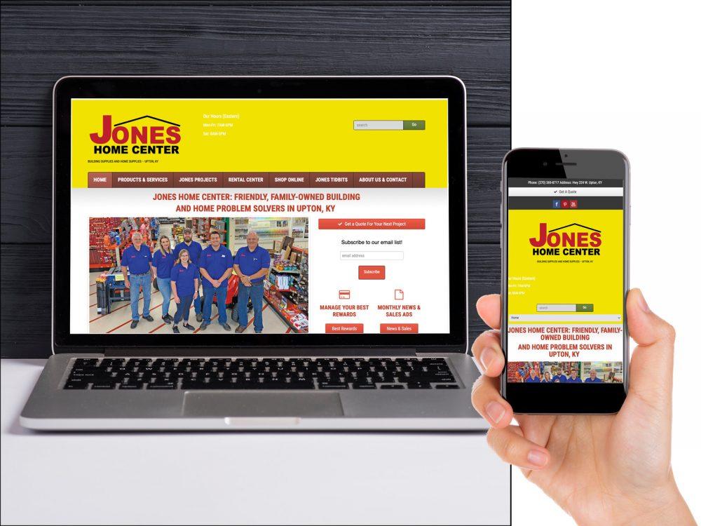 Jones Home Center Website Design Sample