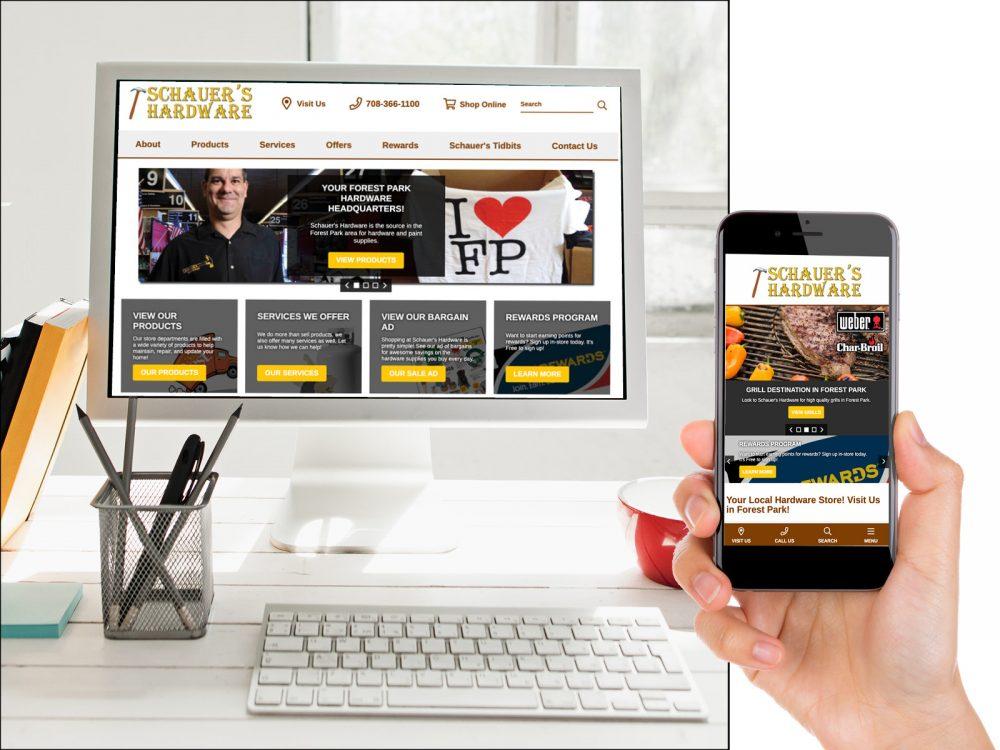 Schauer's Hardware Website Design Sample