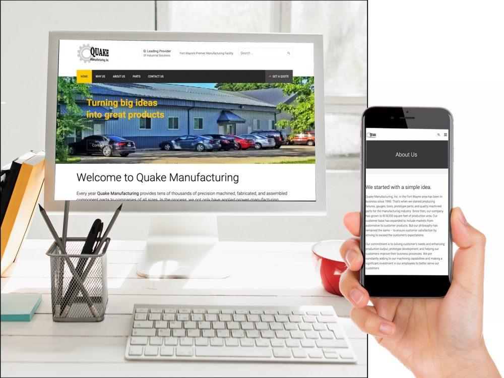 Quake Manufacturing Website Sample