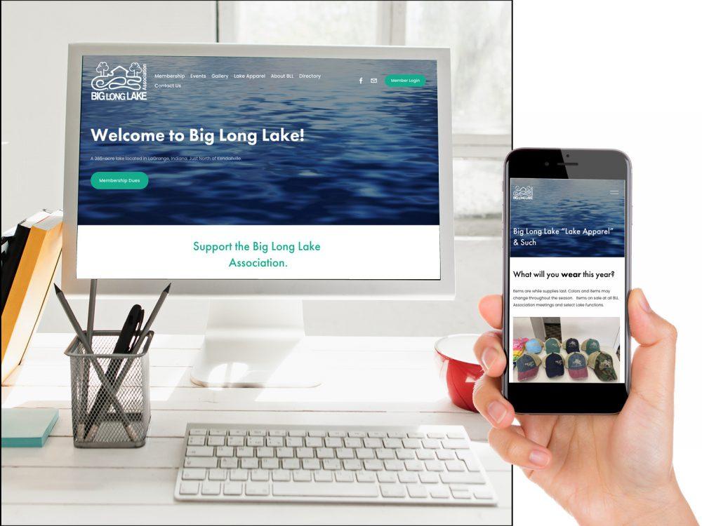 Big Long Lake Website Design Sample