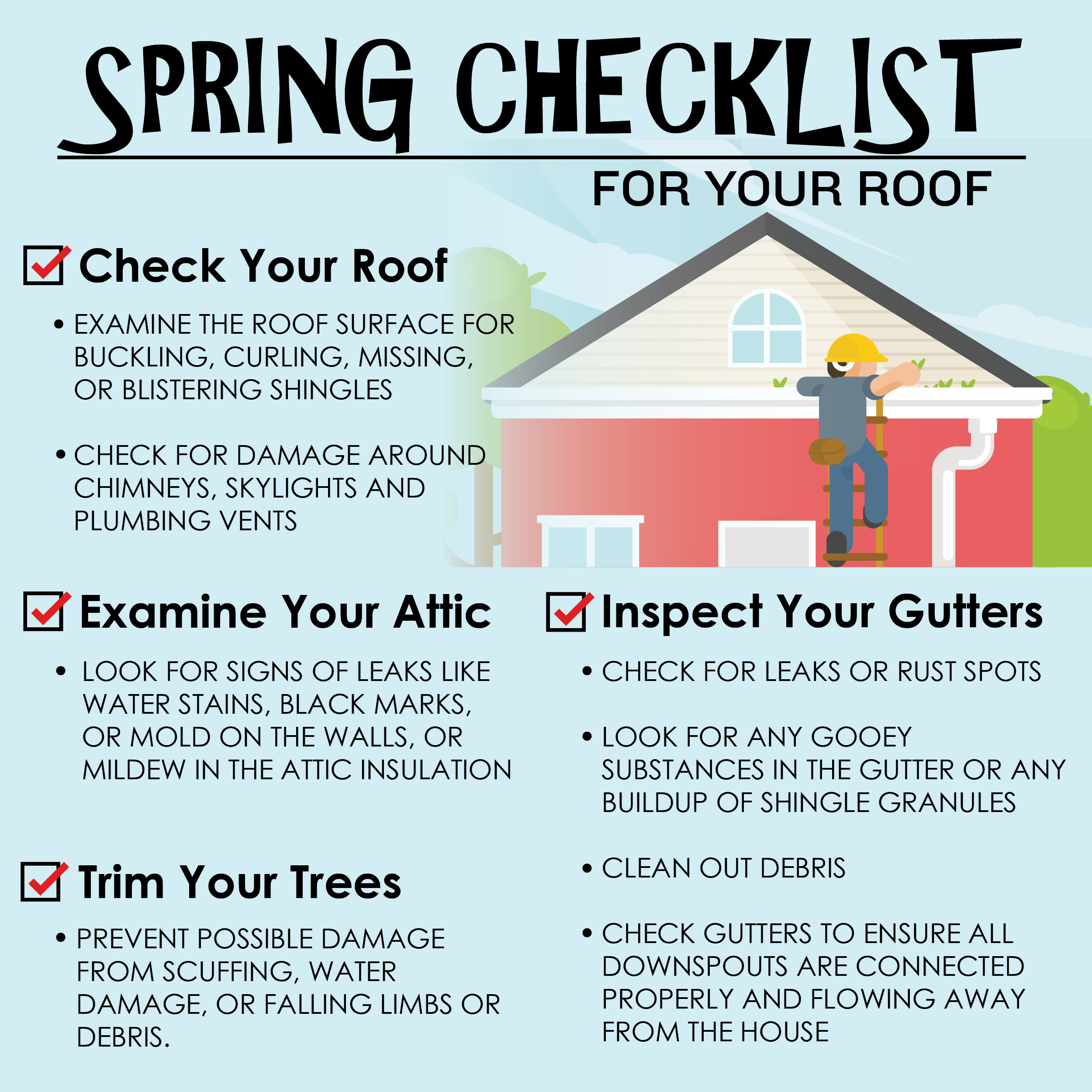 Spring Checklist Social Media Infographic Sample