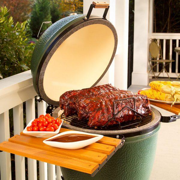 big green egg grill photo backdrop