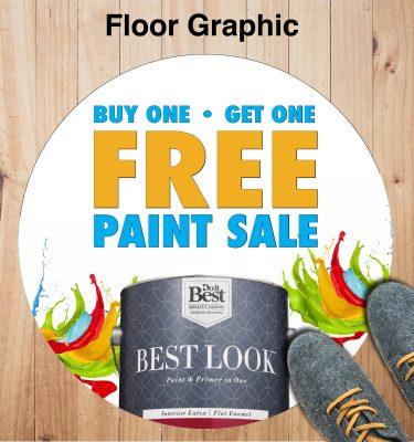 paint sale floor graphic
