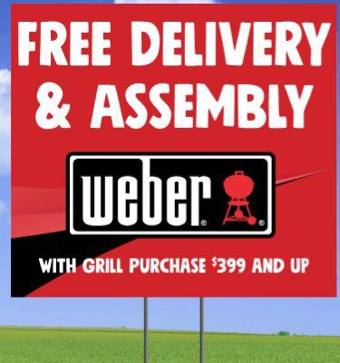 weber yard sign