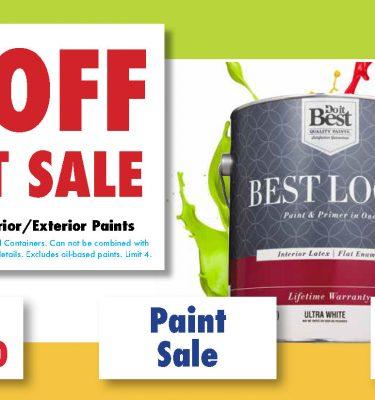 paint sale postcard